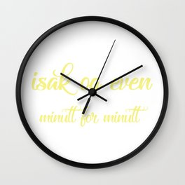 SKAM - Evak - Isak og Even minutt for minutt Wall Clock