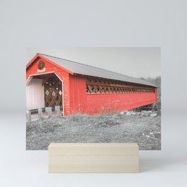 Paper Mill Village Bridge Mini Art Print