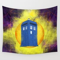 tardis Wall Tapestries featuring The TARDIS by Mirco