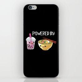Powered by Ramen and Boba-Tea iPhone Skin