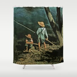 The Fishing Hole Shower Curtain