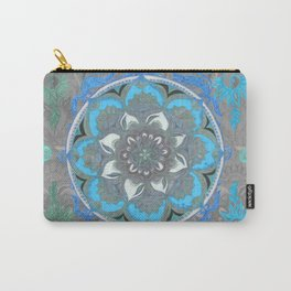 Mint Green, Blue & Aqua Super Boho Medallions Carry-All Pouch