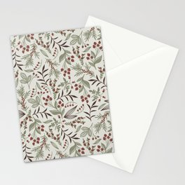 PAINTED FOREST BERRIES AND LEAVES Stationery Cards