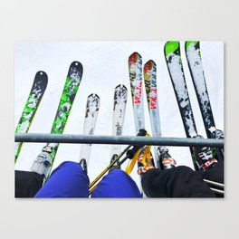 Ski All Day Canvas Print