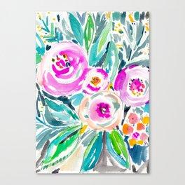 Pink Abundance Floral Canvas Print