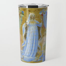 """Fra Angelico (Guido di Pietro) """"The Dormition and Assumption of the Virgin"""" (1) Travel Mug"""