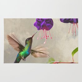 Fuchsia and Hummingbird Rug