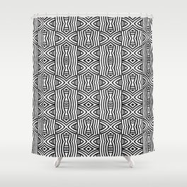 B&W #1, Interlacing pattern Shower Curtain