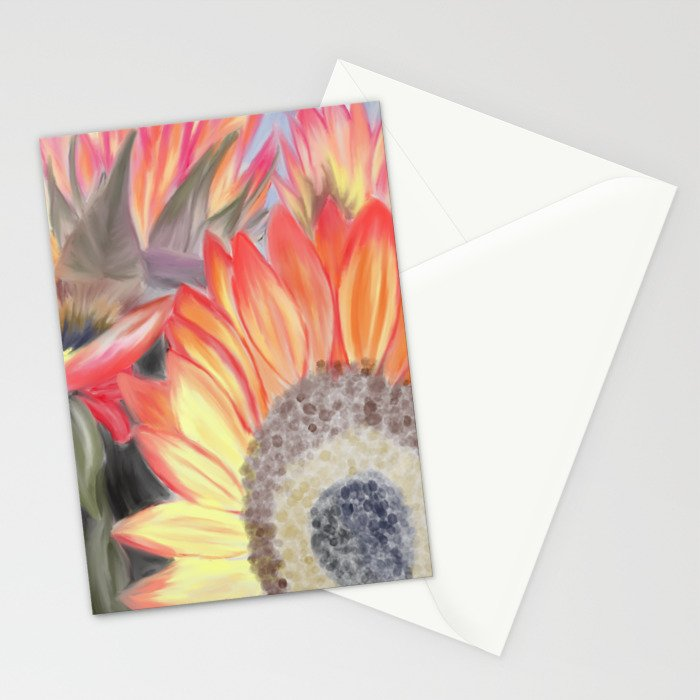 Fall Sunflowers Stationery Cards