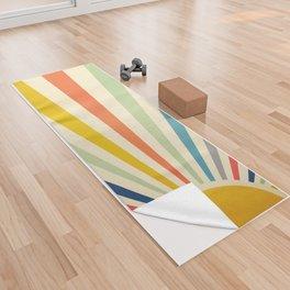 Sun Retro Art III Yoga Towel