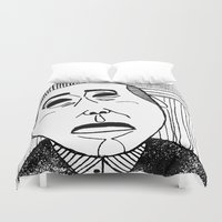 mask Duvet Covers featuring Mask by Arui