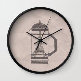 French press... Wall Clock