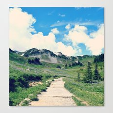 Up Mount Rainier Canvas Print