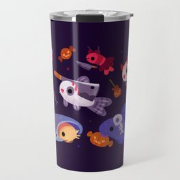 Spooky Cory cats Travel Mug