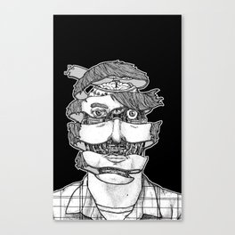 portrait of the artist as an unraveling drone Canvas Print