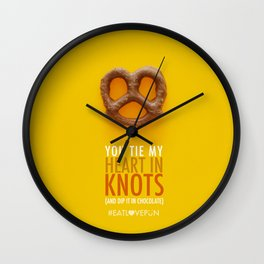 You Tie My Heart in Knots (and dip it in chocolate) Wall Clock