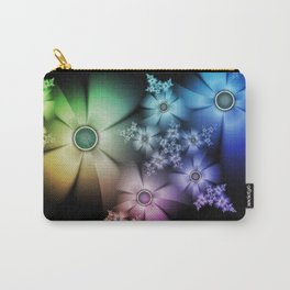 Pastel Silk Rainbow Flowers Carry-All Pouch
