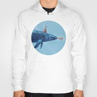 party Hoodies featuring Party Whale  by Terry Fan