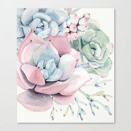 Garden of Succulents Canvas Print