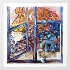 Firehorse at my window Art Print
