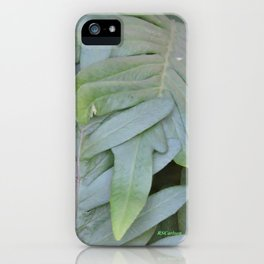 TEXTURES -- Ferns Enfolded iPhone Case