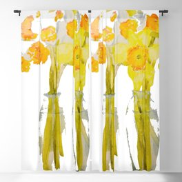 Daffodils watercolor Blackout Curtain