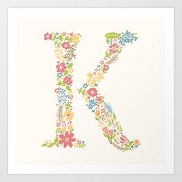 Alphabet K Art Print