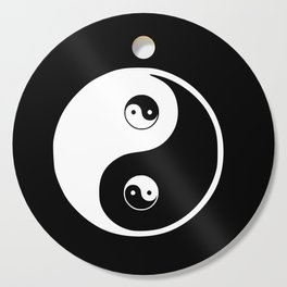 Ying yang the symbol of harmony and balance- good and evil Cutting Board