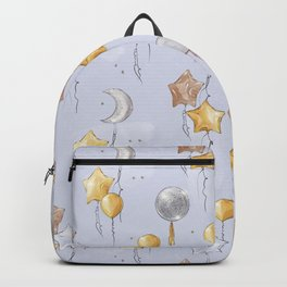 Happy birthday balloon bash party blue Backpack