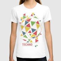 techno T-shirts featuring Techno by Sitchko Igor