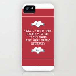 Saint Valentine's dedication iPhone Case