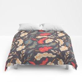 Vintage Floral Pattern 009 Comforters