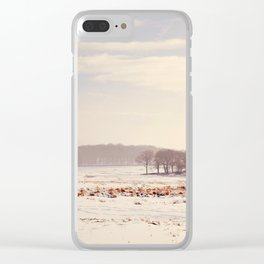 Snowy valley. Clear iPhone Case