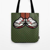 air jordan Tote Bags featuring AIR JORDAN 4 by originalitypieces