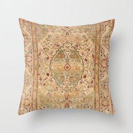 Silk Tabriz Azerbaijan Northwest Persian Rug Print Throw Pillow