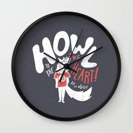Howl to the Heart v2 Wall Clock