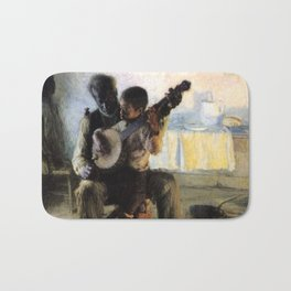 African American Masterpiece 'The Banjo Lesson' by Henry Ossawa Tanner Bath Mat