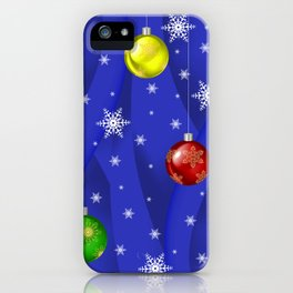 Christmas balls with background iPhone Case