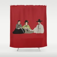 scandal Shower Curtains featuring untold scandal by Live It Up