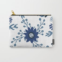 Porcelain Flowers Carry-All Pouch