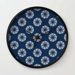 Shibori Swircles Wall Clock