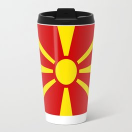 National flag of Macedonia - authentic version Travel Mug