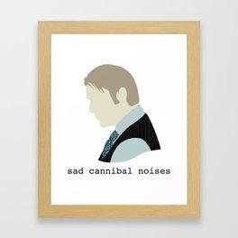 Sad Cannibal Noises Framed Art Print