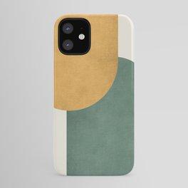 Halfmoon Colorblock 2 - Gold Green  iPhone Case