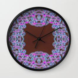In The Pink Colorfoil Bandanna Wall Clock
