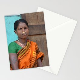 Tribal Woman from Orissa Stationery Cards