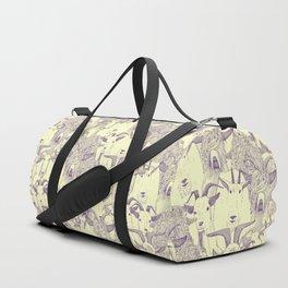 just goats purple cream Duffle Bag
