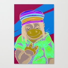 Gorrila Hippie Canvas Print