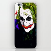 the joker iPhone & iPod Skins featuring joker by Saundra Myles