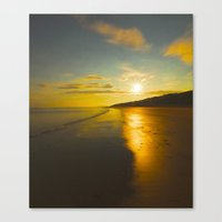 sunrise Canvas Prints featuring Sunrise by Peaky40